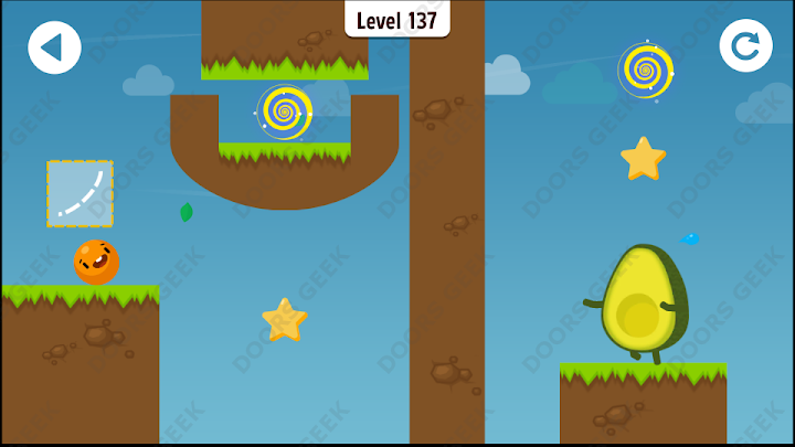 Where's My Avocado? Level 137 Solution, Cheats, Walkthrough, 3 Stars for Android, iPhone, iPad and iPod