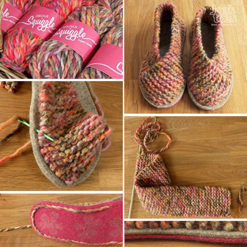 How To Make Knitted Slippers - Tutorial