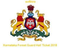 Karnataka Forest Guard Hall Ticket