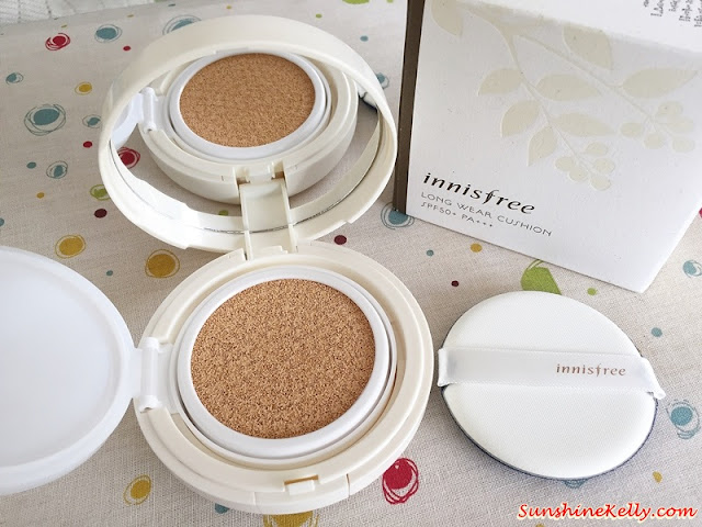 innisfree Long Wear Cushion SPF50+ PA+++, beauty review, sunprotection, laneige malaysia