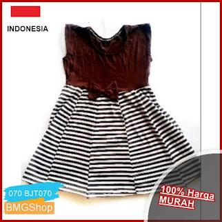 BJT070 Dress Anak Salur Tanpa Lengan BMGShop