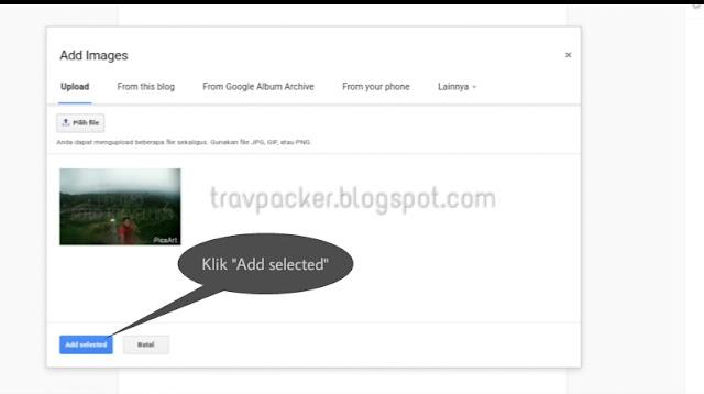 Cara upload dan posting foto atau gambar ke blogger