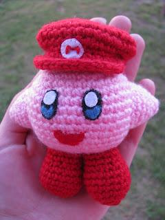 Kirby A Pedido Con Gorrito De Mario Bross Y De Cocinero