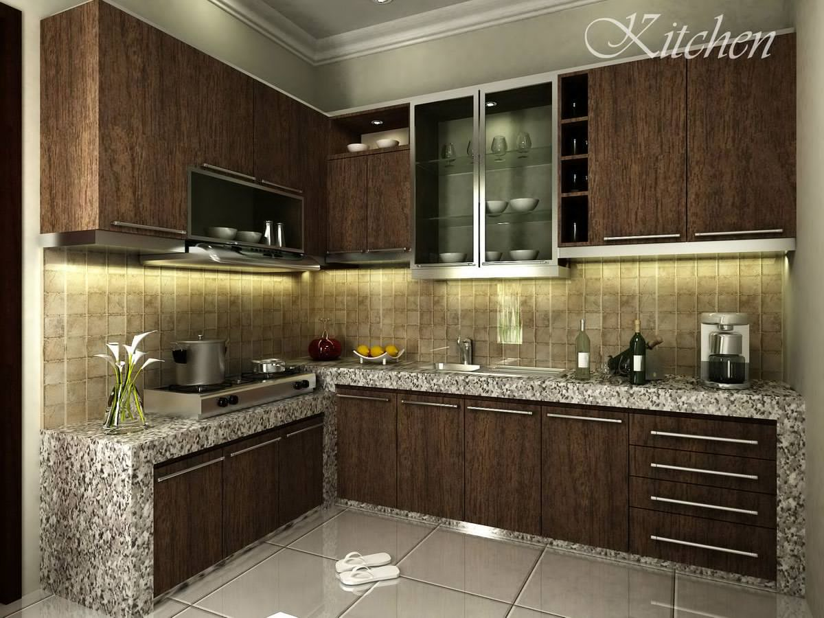 beautiful simple kitchen design ideas kitchen ideas pictures designs neutral dark brown cabinets with steel handgrip