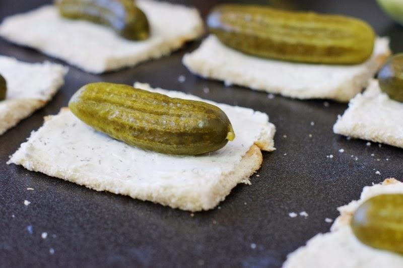 Making Dill Pickle Bites - tasty little appetizer-sized bites!