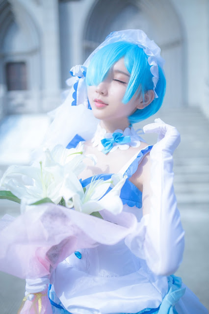 rem cosplay wedding