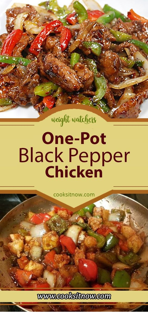 One-Pot Black Pepper Chicken