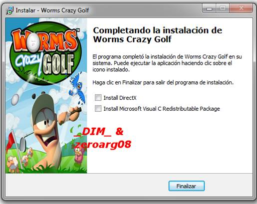 Capturas Worms Crazy Golf 2011 PC Full