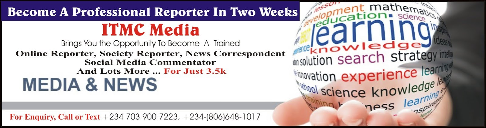 Be A Trained Journalist