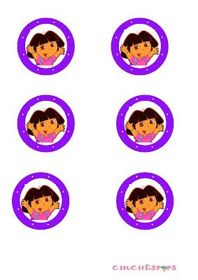 Toppers imprimibles Dora Exploradora
