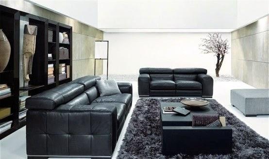 sala decorado blanco y negro