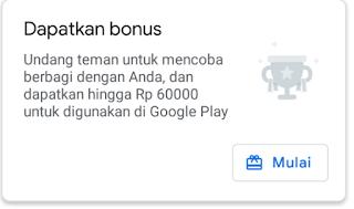 Menambah saldo google play 600 Ribu secara gratis dari aplikasi Files by Google