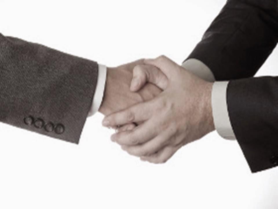 double handed handshake