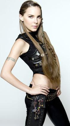 Foto de Belinda con cabello largo