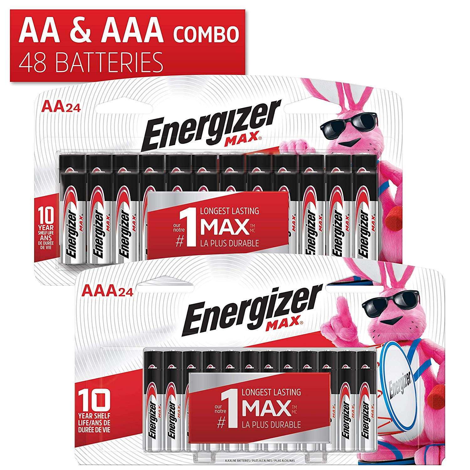 Energizer Combo Pack - 24 AA and 24 AAA