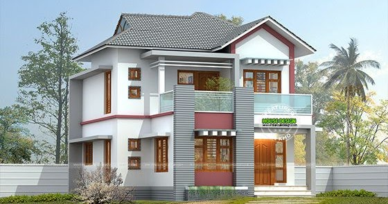 Nice small double storied home kerala home design and for Nice home designs kerala