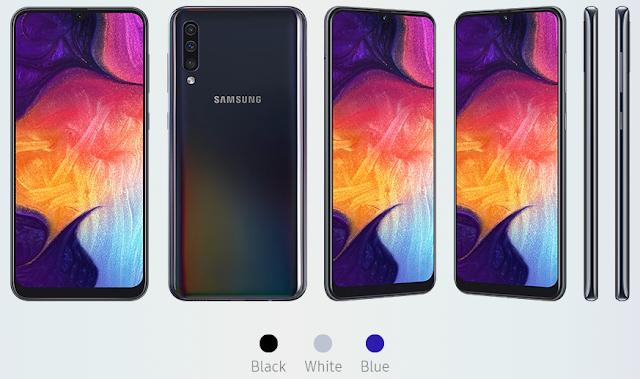Uraian Harga Samsung Galaxy A50 dan Spesifikasi 2019