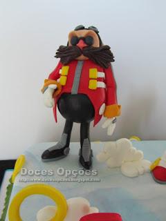 bolo aniversário Doctor Eggman sonic sega