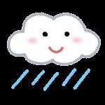 天気のマーク「曇り雨」