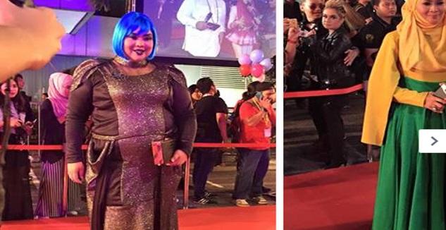 15 Foto fesyen-fesyen pelik di sekitar Karpet Merah Anugerah MeleTop Era 2016 yang berlangsung di Pusat Konvensyen CIDB, Kuala Lumpur