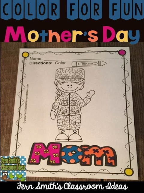 Your Students will ADORE these Coloring Book Pages for Mother's Day. Add it to your plans to compliment any Mother's Day Unit or activity! Thirty-Nine Coloring Pages For Some Mother's Day Fun! Color For Fun Mother's Day Printable Coloring Book Pages. Perfect for fine motor skills, treasure box coloring book reward, indoor recess, morning work, emergency sub tubs, creative writing centers, story starters and more! Visit my blog for a four page sample and other Mother's Day tips and resources.