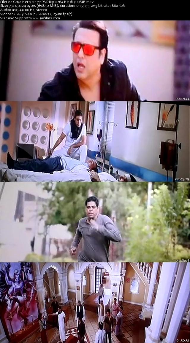 Aa Gaya Hero 2017 pDVDRip Hindi 700MB