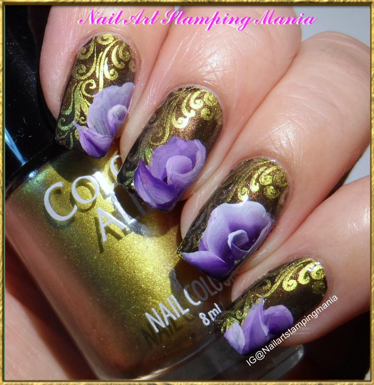 Nail Art Stamping Mania One Stroke Technique With Uberchic Uber Mat