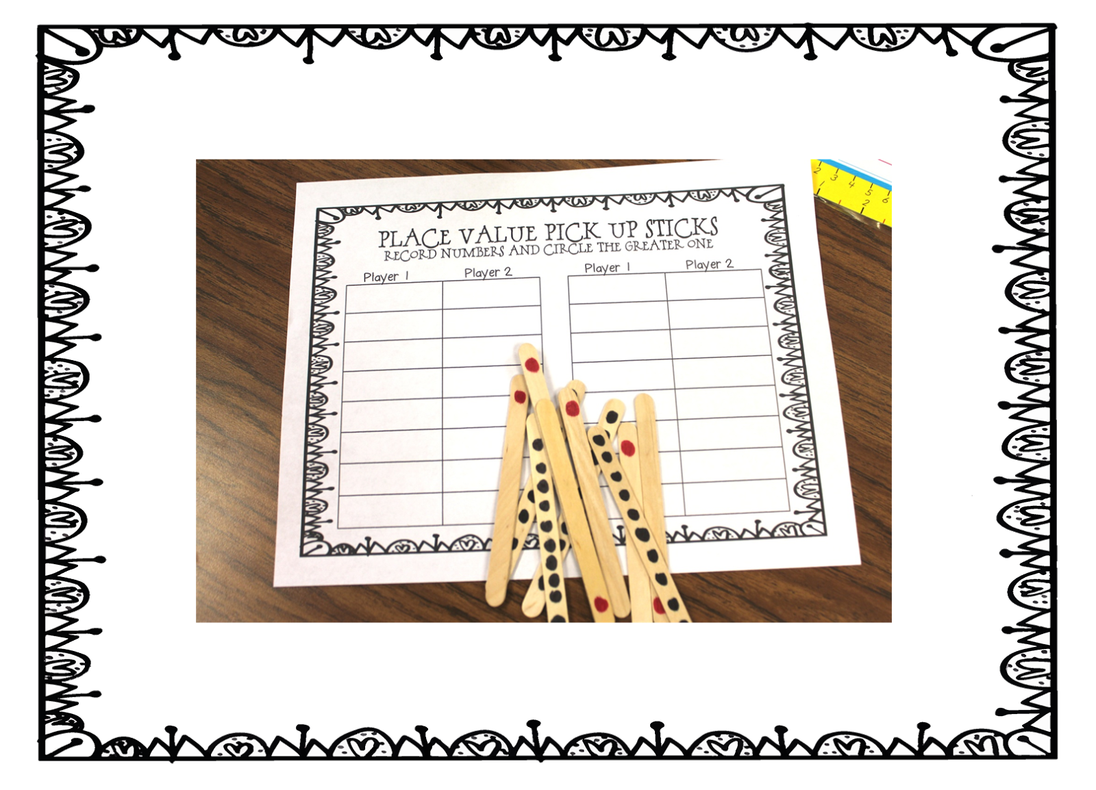 First Grade Wow Place Value Pick Up Sticks