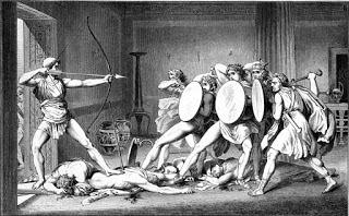 Ο Οδυσσέας μετά την δολοφονία των μνηστήρων