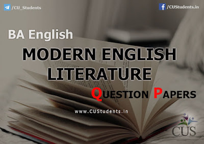 BA English Modern English Literature Previous Question Papers