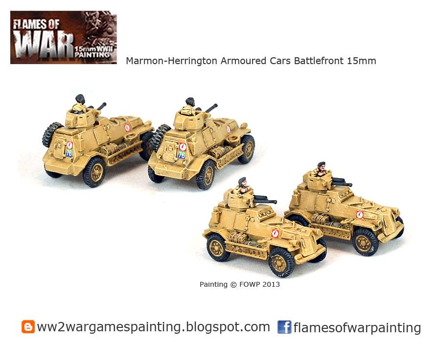 Marmon-Herrington Armoured Cars Battlefront 15mm painted by Flames of war painting