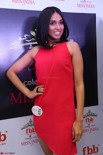 Spatika Surapaneni in Red Tight Dress at FBB Miss India 2017 finalists at Telangana auditions Feb 2017 (23).JPG