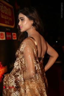 Actress Model Sony Charishta Stills in Beautiful Embroidery Saree at Gemini TV 2016 Puraskaralu Event  0028.JPG