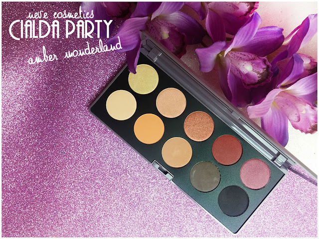 amber wonderland  neve cosmetics cialda party review recensione makeup  eyeshadow