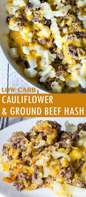 CAULIFLOWER AND GROUND BEEF HASH