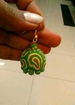 final piece polymer jhumka indian traditional