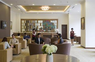 Sảnh Lounge sang trọng Vinhomes Nguyễn Chí Thanh