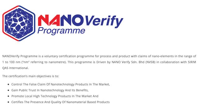 NANOVerify Programme