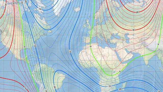 El polo norte magnético se está desplazando hacia Rusia a gran velocidad
