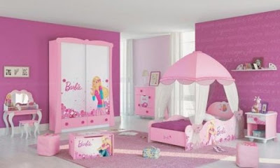Dise o de habitaciones de barbie para ni as infantil decora for Decoracion de cuartos para nina de 7 anos