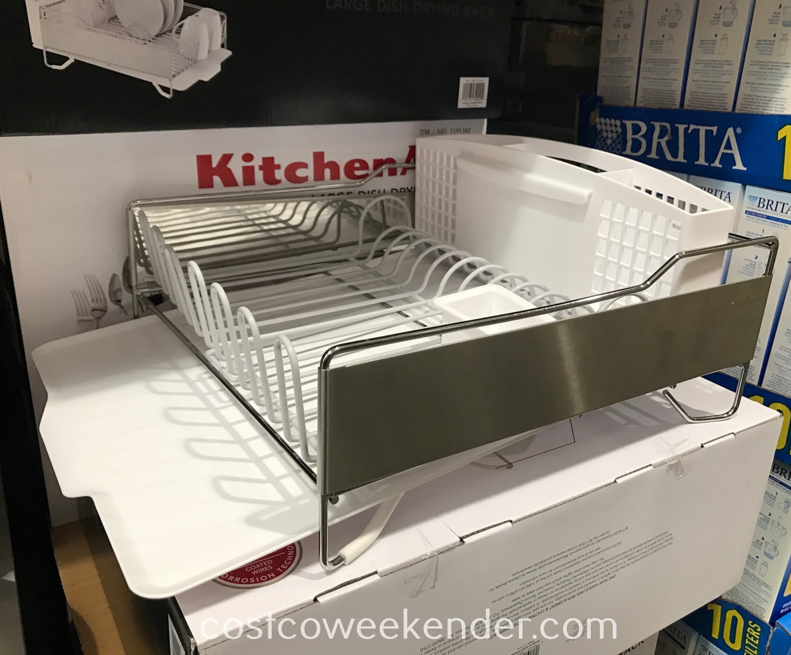 Costco 1191342 - KitchenAid Large Dish-Drying Rack holds a variety of cookware
