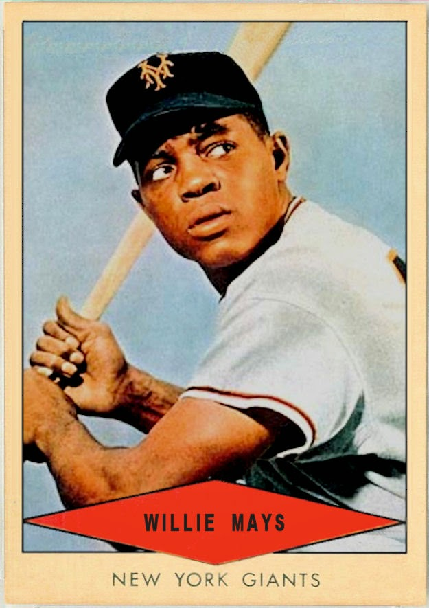 Cards That Never Were 1954 Red Heart Willie Mays