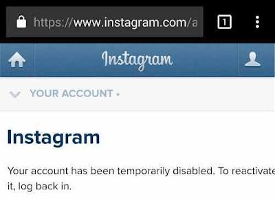 cara menghapus akun instagram dari handphone 6