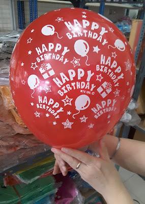 Balon Print Happy Birthday