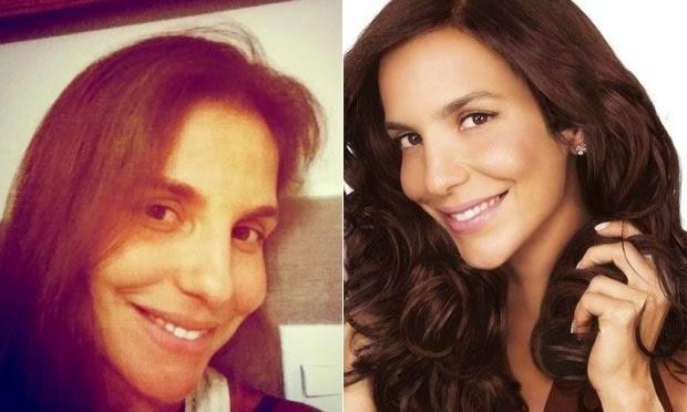 Resultado de imagem para Você acha que maquiagem faz diferença ? Surpreenda-se com 7 famosas brasileiras sem maquiagem.