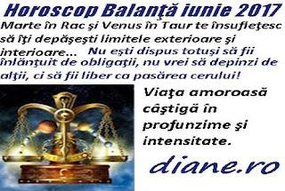 Horoscop iunie 2017 Balanţă