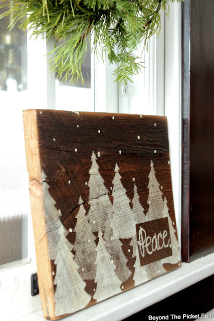 make an easy christmas sign on reclaimed wood in an hour or less