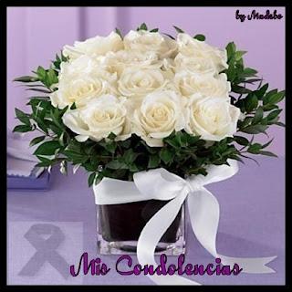 Tarjetas de Pésame con Flores