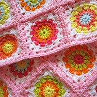 Crochet Pattern Flower Square II
