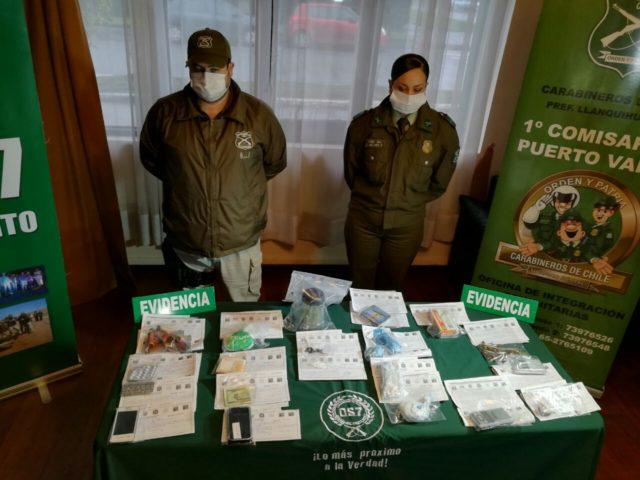 Por drogas detienen a hijo del conservador de Bienes Raíces de Puerto Varas por drogas
